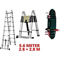 Corvids Dual Extension A-Type Aluminium Telescopic Ladder with Mag Hinge & Ultra-Stablizer Rod