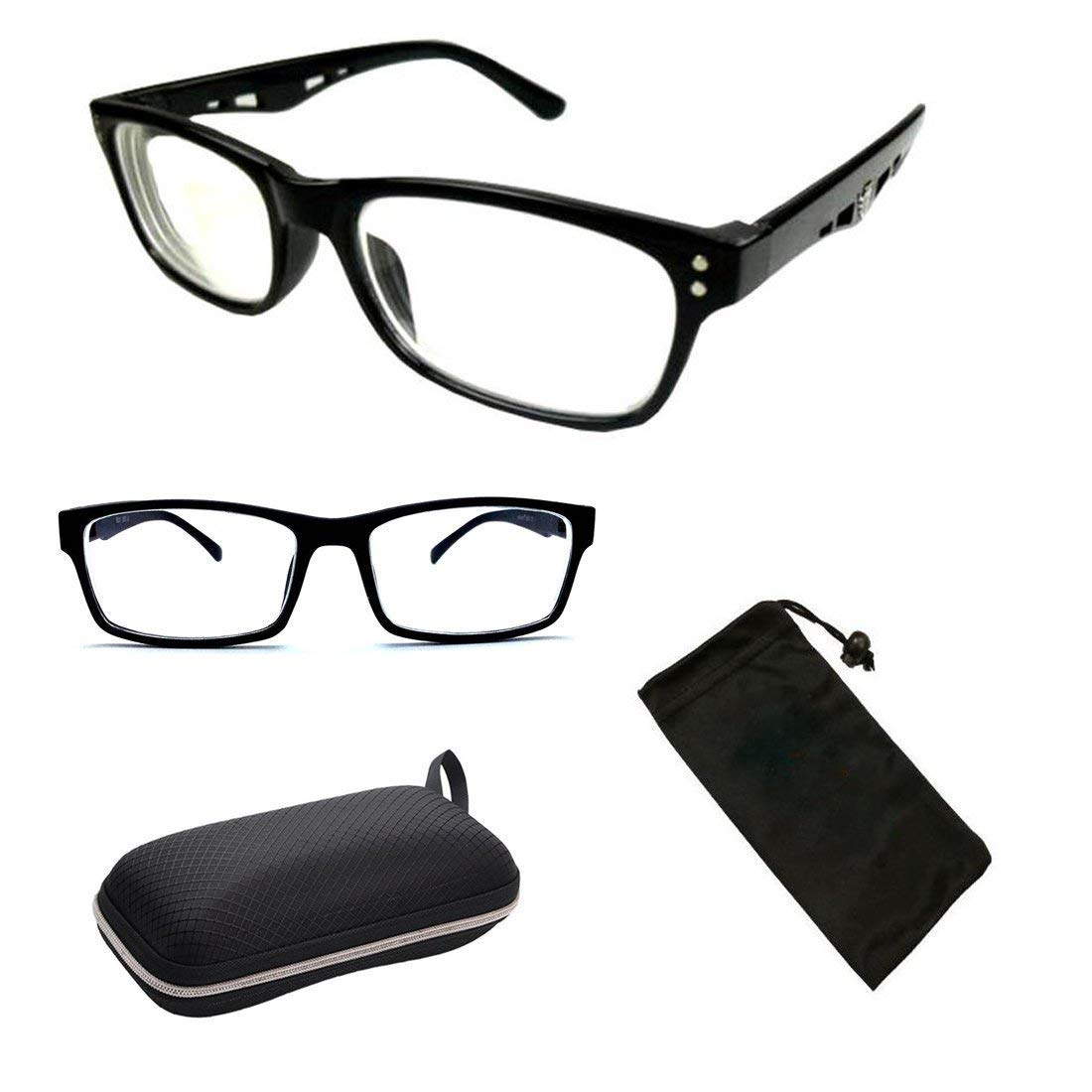 d2ed312b77 Amazon.com  2 Pairs Nearsighted Myopia Lens Plastic Frame Eyeglass Glasses  Men   Women  Health   Personal Care