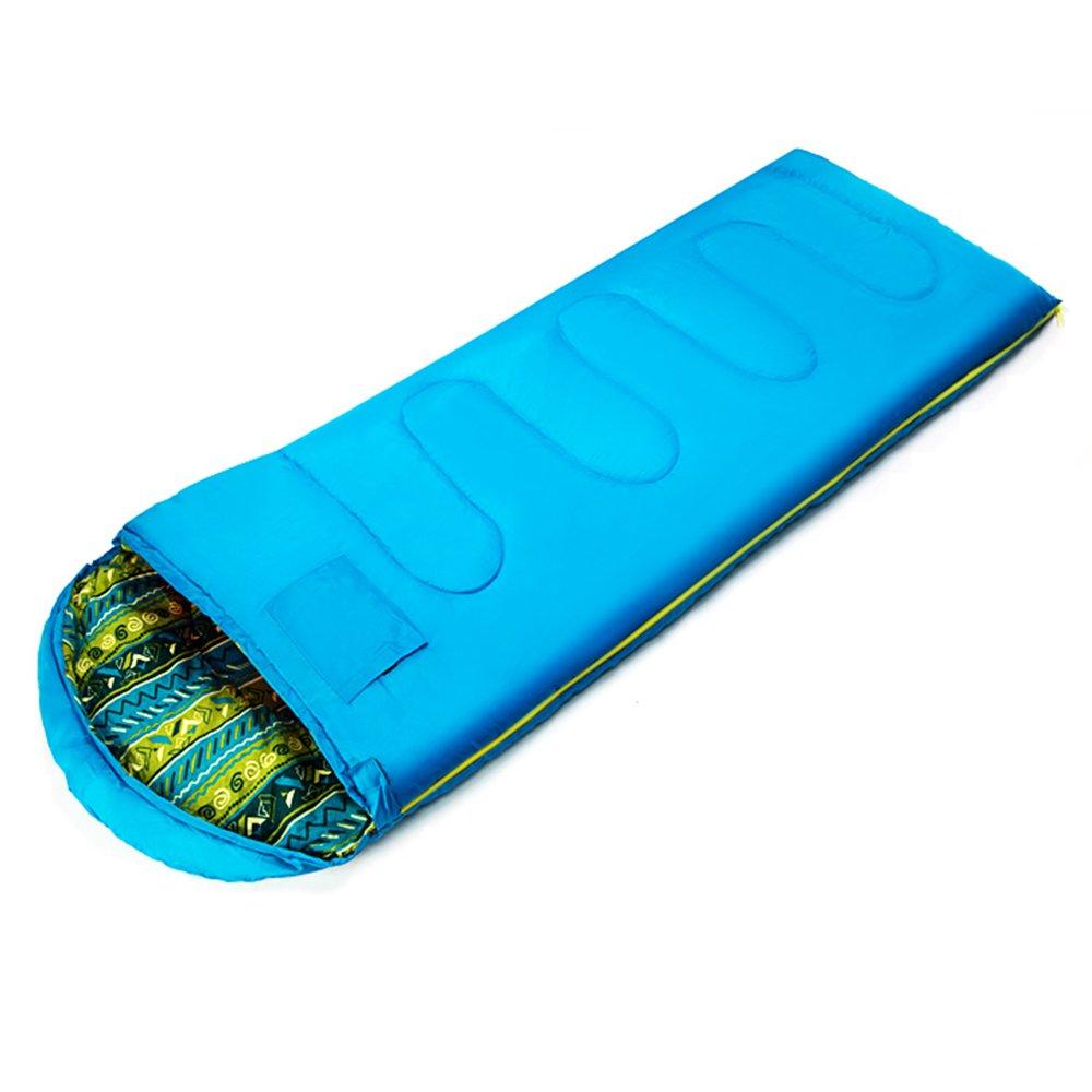 GYL SHUIDAI LWFB Umschlag Schlafsack Erwachsene Outdoor Camping Wandern Baumwolle Rechteckigen Schlafsack mit Kompressions-Sack (2 Farben erhältlich) (180 + 30)  75cm