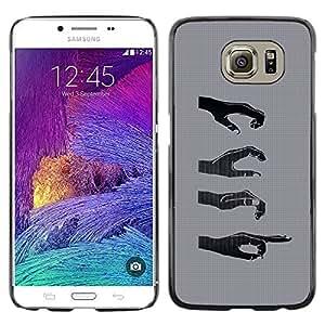 Shell-Star Arte & diseño plástico duro Fundas Cover Cubre Hard Case Cover para Samsung Galaxy S6 / SM-G920 / SM-G920A / SM-G920T / SM-G920F / SM-G920I ( Hands Signs )