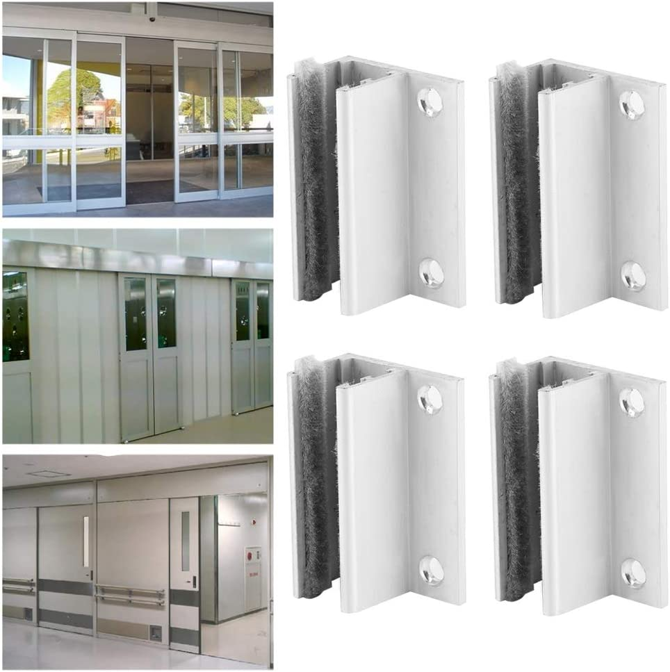 Sliding Door Positioner 4Pcs Roller Guide Door Swing Stopper Automatic Induction Door Guide Sliding Door Hardware Adjustable Wheel for Home Bathroom Glass Doors