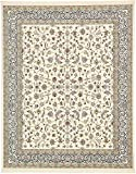 Unique Loom Narenj Collection Classic Traditional Repeating Pattern Ivory Area Rug (8′ x 10′) For Sale