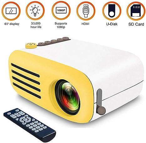 SWEET Mini Proyector 1080P Soporta Altavoces Incorporados Y Los LED De Control Remoto Cine En Casa Partes De Juegos De Entretenimiento: Amazon.es: Deportes y aire libre