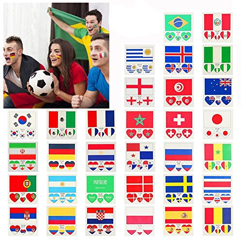 Temporary Flag Tattoo 60*80mm 5Pack Heart Shaped 60*60mm 5Pack Face Body Waterproof Temporary Body Tattoo for Football Soccer Fans Watching Football Sports,Mexico - Mexico 80 Proof