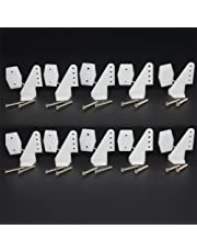 10 Sets Nylon Standard Control Horns 17.5x26 mm 4 holes With Screw For RC Airplane Parts KT Model Replacement