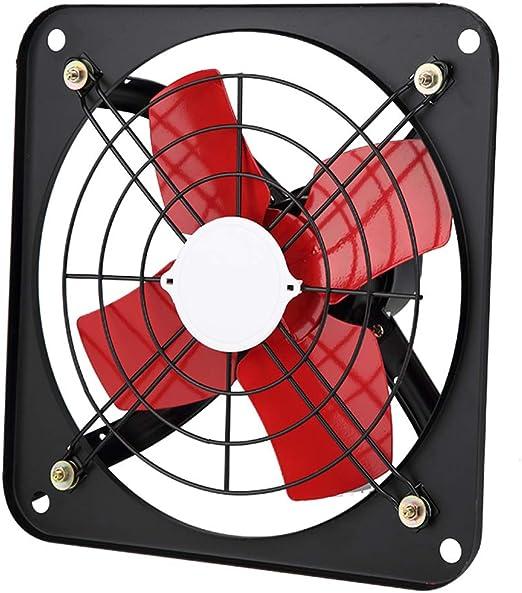 Extractor de ventilación de Chapa Industrial para Extractor de ventilación Comercial, Campana Cuadrada de la Gama de Hierro/Ventilador de ventilación (Rojo): Amazon.es: Hogar