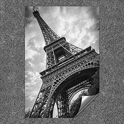 5-Pack | 18x27 CGSignLab Circle CaptureBlack and White Eiffel Tower Outdoor Contour Wall Decor