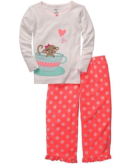 400342a29591 Amazon.com  Carter s Little Girls  Tea Cup Monkey Pajama Set  Clothing