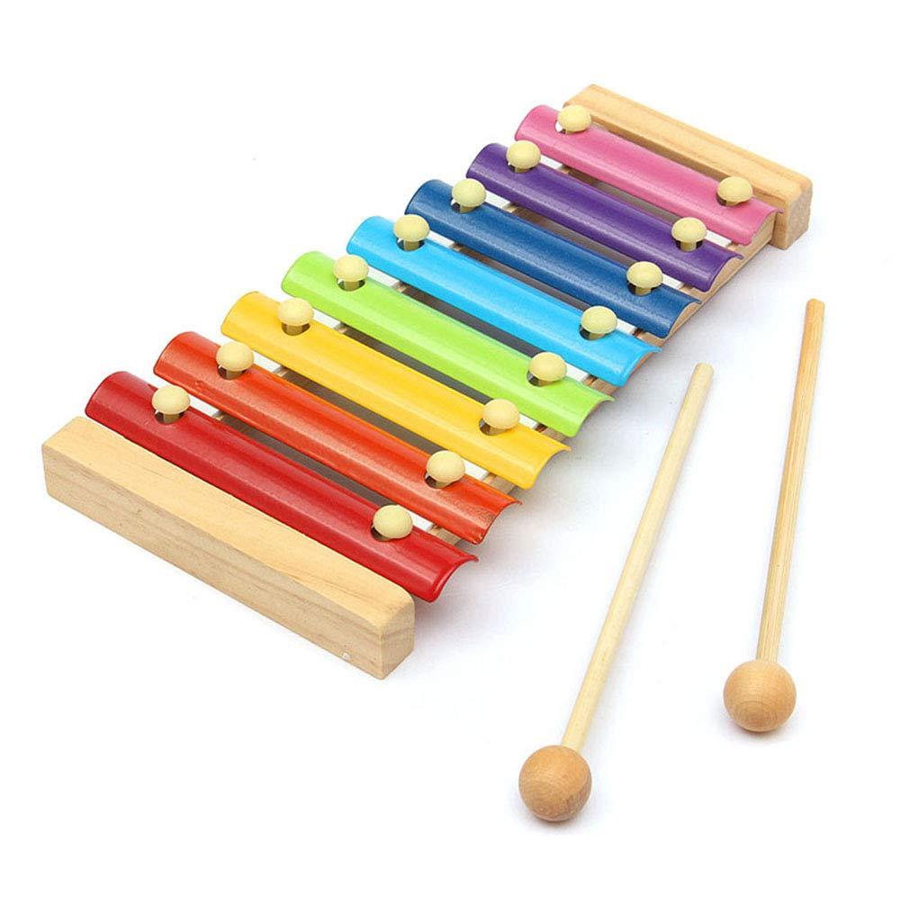 ZREAL Xylophone en Bois Xylophone 8-Notes Clavier Piano d'instrument de Jouet Musical de bébé Instruments de Musique Xylophone Jouet Imaginatif Éducatif Wisdom de Bébé Enfants Anniversaire Cadeau