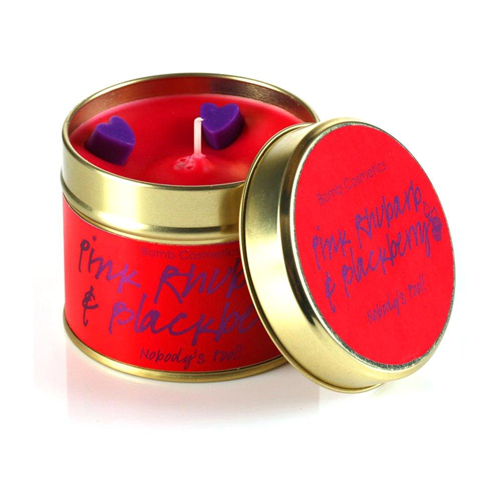 Bomb Cosmetics: rabarbaro e Blackberry Candela in Scatola di Latta PRHUBLA04