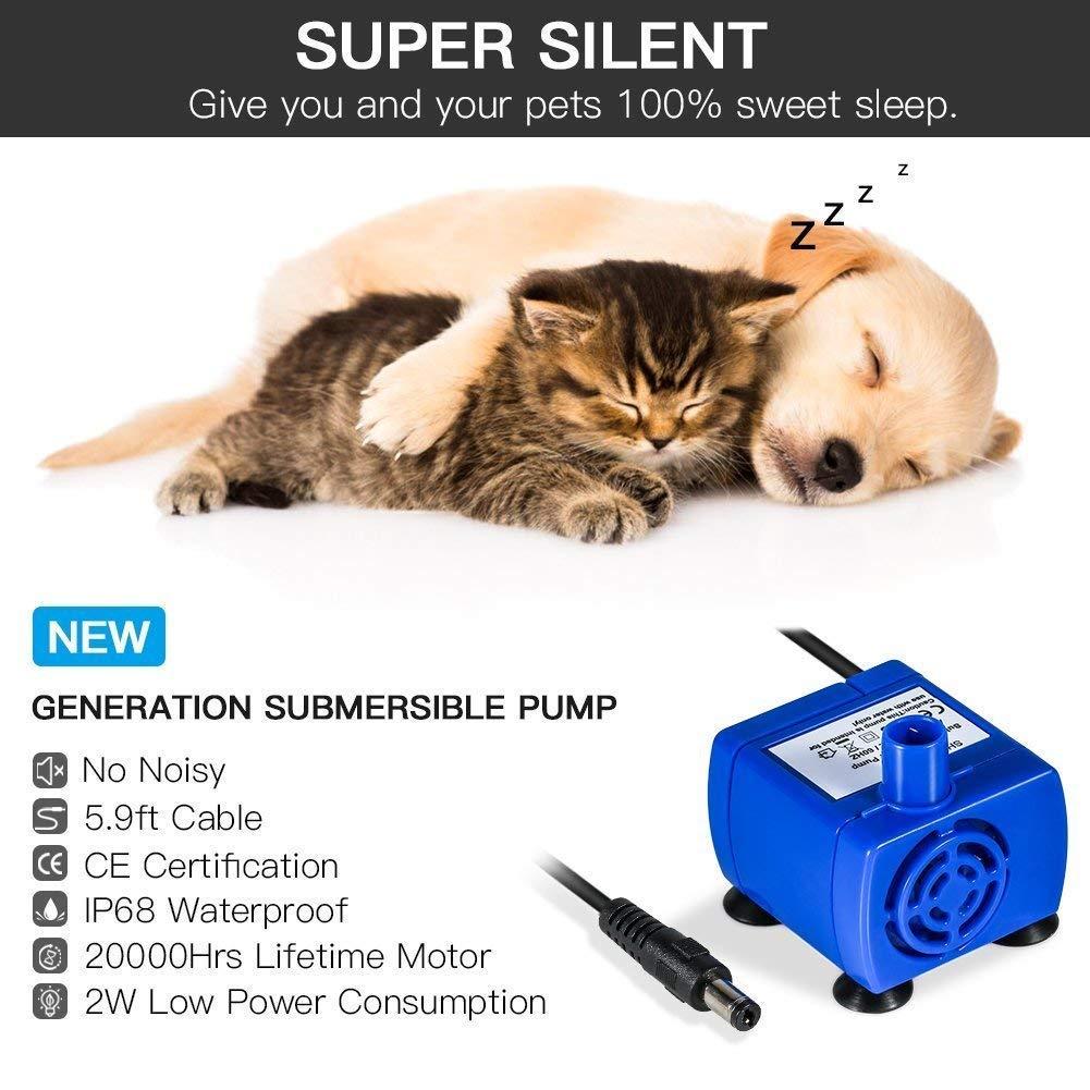 YOUTHINK Fuente de Agua para Gato/Perros, Dispensador Mascotas, Bebedero Automático Silencio 1.6 L Circulante SIN BPA con 3 Filtros, 2 Flores y 1 Tapete de ...