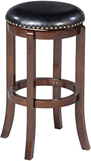 Boraam 33829 Cordova Bar Height Swivel Stool 29-Inch Cappuccino  sc 1 st  Amazon.com & Amazon.com: Flash Furniture 29u0027u0027 High Backless Cherry Wood ... islam-shia.org