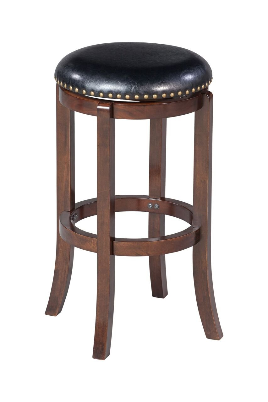 Boraam 33624 Cordova Swivel Stool, 24-Inch, Black