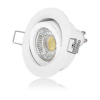 10 x LED Einbaustrahler Set IP44 dimmbar 230V 6W GU10 Decken-strahler-leuchte