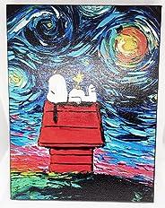 Canvas Decorativo Snoopy Van Gogh