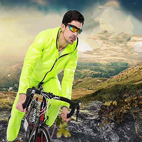 Capa Para Capucha Lluvia Con De Traje Pantalón Y Chaqueta Conjunto Pantalones Trabaj Impermeable El Verde Protección Motocicleta Poncho Equipo Unisex BPfazqA