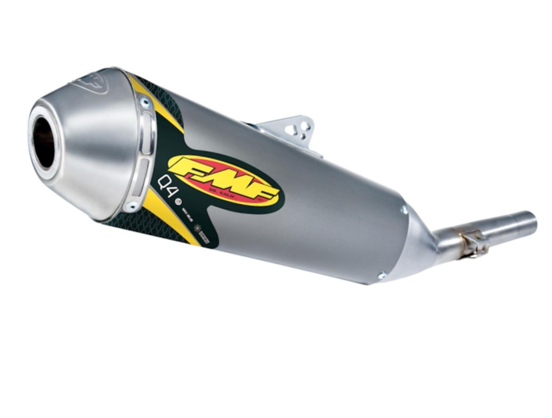 FMF Racing Q4 Aluminum//Steel Spark Arrestor Slip-On System for 2006-2011 Yamaha