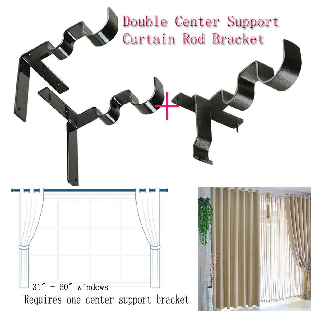 TAOtTAO Gardinenstange Halterung Hang Curtain Rod Holders Rechts in den Fensterrahmen Curtain Rod Bracket (1 Paar, Halterung)