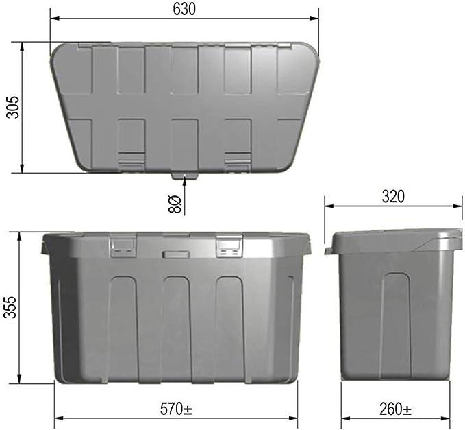 Mabu Kunststoff Staubox Für V Deichsel 630 X 305 X 355 Mm Auto