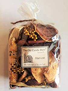 Old Candle Barn Harvest Potpourri Large Bag - Perfect Fall Decoration or Bowl Filler - Beautiful Autumn Scent