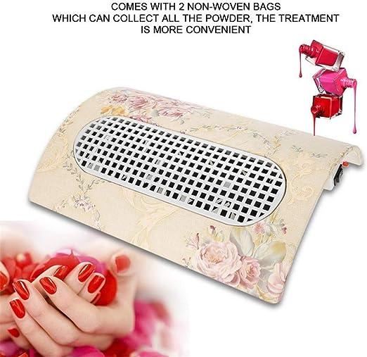 MXHSX Colector de Polvo de uñas Aspirador para Uso de Arte de uñas Colector de Polvo