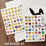 4 Set 192 Piece Die Cut Emoji Stickers Ipod Ihome Iphone Home Button Phone Luggage Laptop Macbook Notebook Message Decal Funny Smile Vinyl Sticker Decor Likely Unique Mini Cute Fun Face Decals Kit
