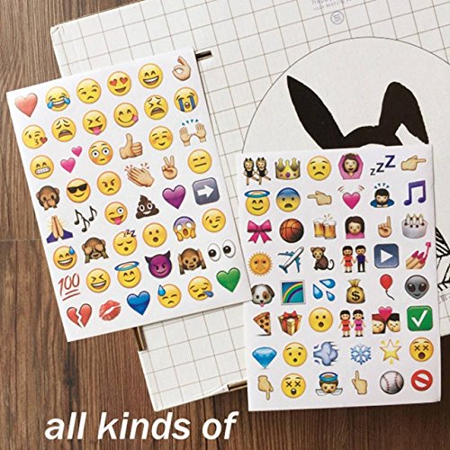 Ellen's The Over Costumes Halloween Years (4 Set 192 Piece Die Cut Emoji Stickers Ipod Ihome Iphone Home Button Phone Luggage Laptop Macbook Notebook Message Decal Funny Smile Vinyl Sticker Decor Likely Unique Mini Cute Fun)