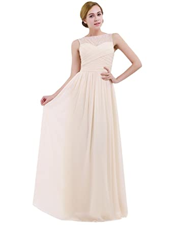 4d05da2d2c331 IEFIEL Femme Fille Robe Dentelle Demoiselle d honneur Robe de Soirée  Mariage Elégant Princesse Robe