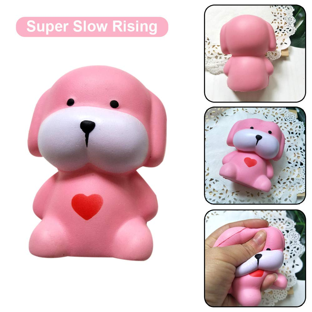 Squeeze Toys, Jinjin Adorable Dog Slow Rising Cream Scented Stress Relief Toys (As Shown)