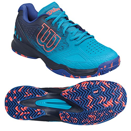 Wilson Kaos Comp, Zapatillas de Tenis para Hombre, Azul (Hawaiian Ocean / Navy Blazer / Fiery Co)