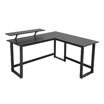 Amazonde Vasagle Computertisch Schreibtisch Mit Monitorständer