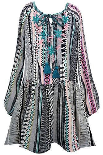 Truly Me, Big Girls Tween Long Sleeve Hi Low Chiffon Dress, 7-16 (14, Ivory (Tween Dresses Formal)