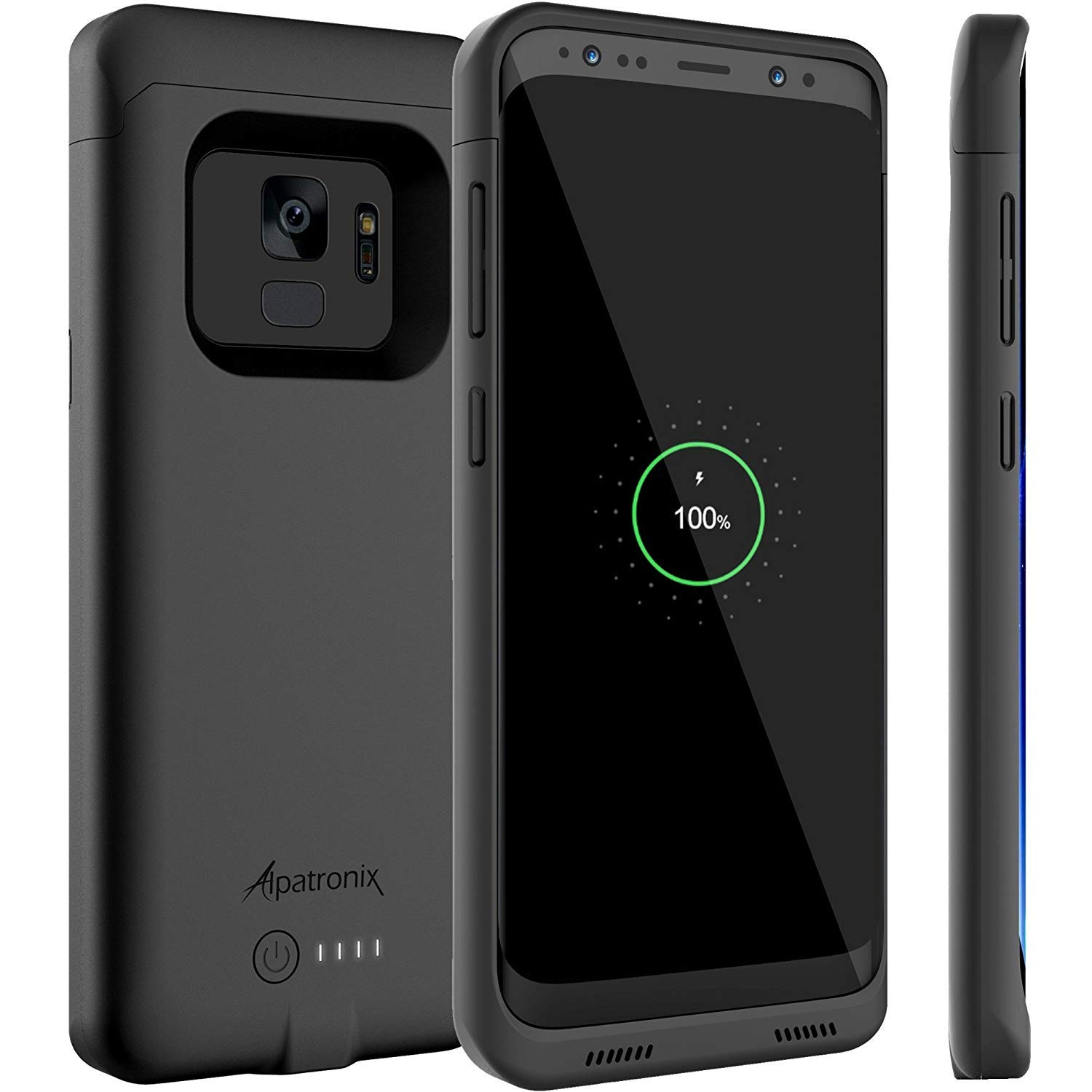 Alpatronix Galaxy S9 Battery Case, BX440 4000mAh Slim Portable Protective Extended Charger Cover with Qi Wireless Charging Compatible for Samsung Galaxy S9 (5.8-inch) (Black) [Upgraded] by Alpatronix
