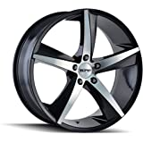 TR72 (3272) GLOSS BLACK/MACHINED FACE 17X7.5 5-114.3 40mm 72.62mm
