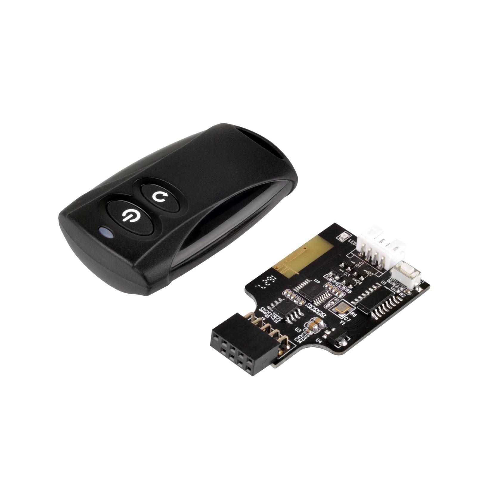 SilverStone Technology 2.4G Wireless Remote Computer Power/Reset Switch, USB 2.0 9-pin Interface ES02-USB by SilverStone Technology