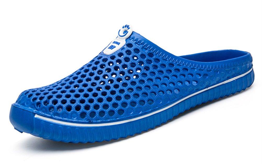 clapzovr Unisex Garden Clogs Soft Beach Water Sandals for Women and Men Blue - 9 B(M) US Women / 8 D(M) US Men