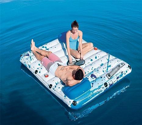 ZXH Inflables Pequeños Flotadores flotantes de la Piscina de la Isla Juguete de la natación del