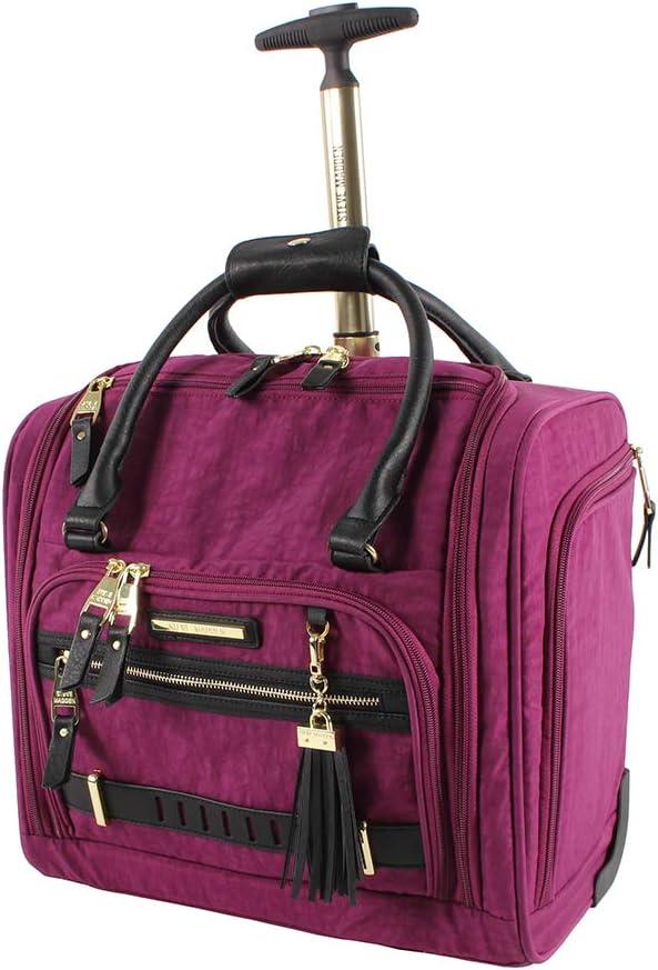 Steve Madden Luggage Wheeled Suitcase Under Seat Bag (Peek-A-Boo Purple)