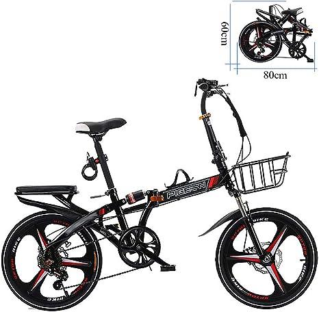 ZEIYUQI Bicicleta Plegable Adulto Rueda 20 Pulgadas Marco De ...