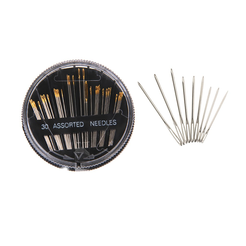 Baoblaze 30 Pieces Self-Threading Hand Sewing Needles & 9 Large Eye Blunt Sewing Needles Quilting Yarn Needles 4337007730
