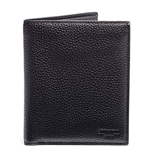 Jack Spade Pebble Leather Bifold Travel Wallet, Black by Jack Spade