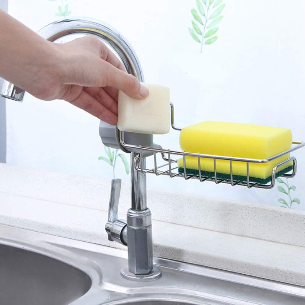 Lavello in acciaio INOX scolapiatti scolapiatti porta spugna pennello piatto rubinetto da cucina organizzatore mensola