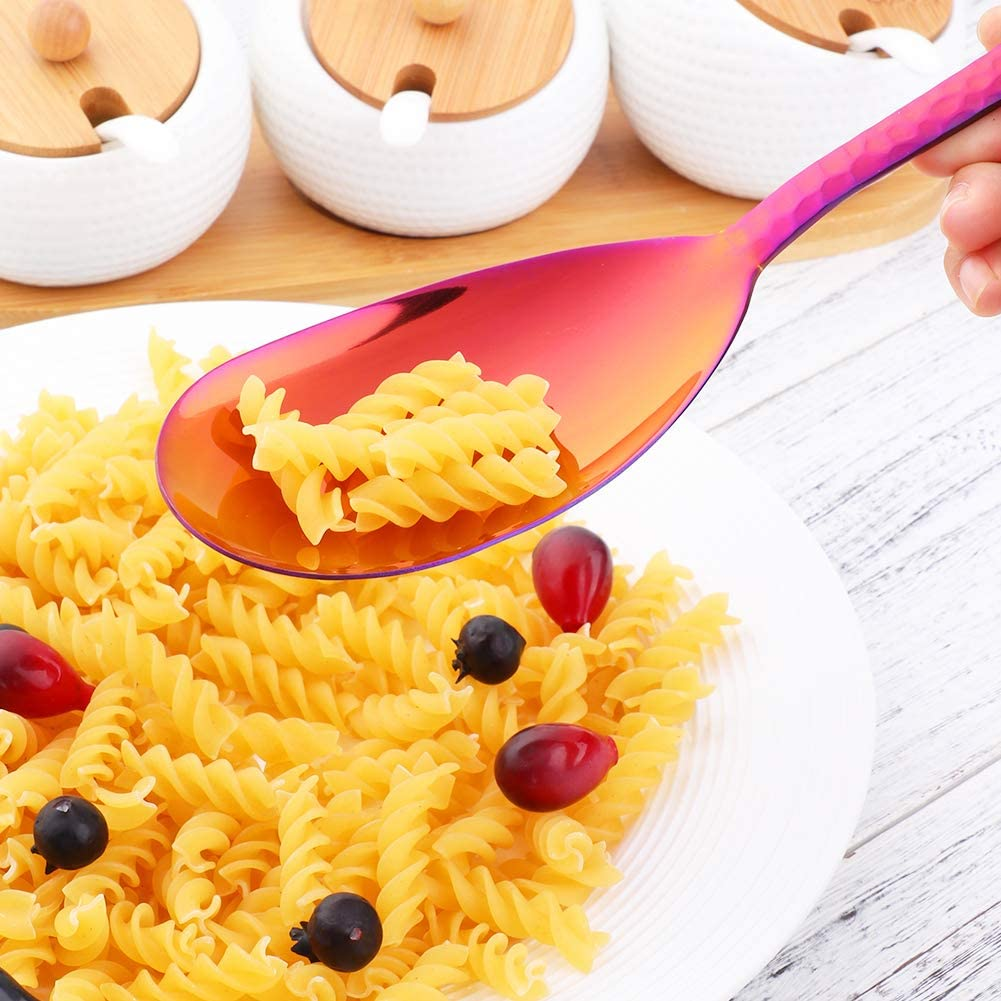Purple Kitchen Utensils BISDA 2-Piece Salad Serving Set Include Spoon Fork 12 inch Dishwasher Safe