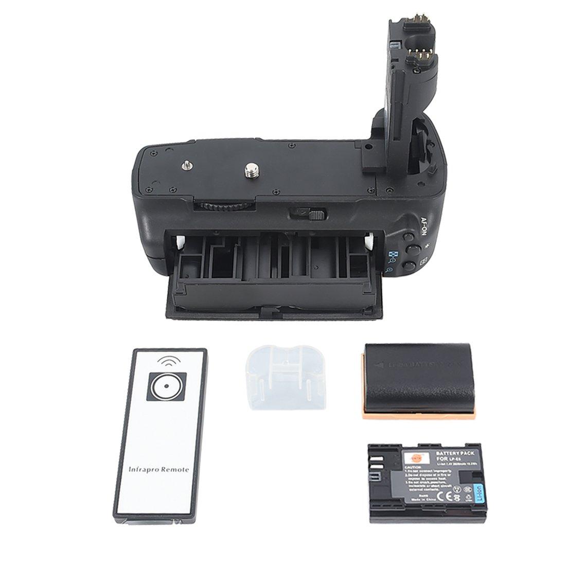 2x LP-E6 Battery for Canon EOS 5D Mark II 5D2 SLR Digital Camera DSTE/® Pro IR Remote BG-E6 Vertical Battery Grip