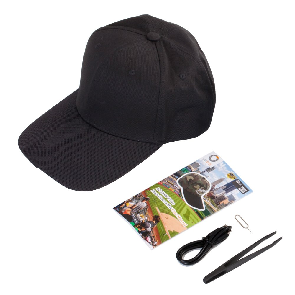 ViView® Hands-Free Video Camera Hat 1080P Wide Angle w// 16GB SD Card