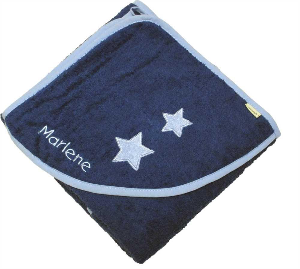Sterntaler Badetuch 100x100cm Sterne Stanley mit Ihrem Wunschnamen bestickt my-mosaik