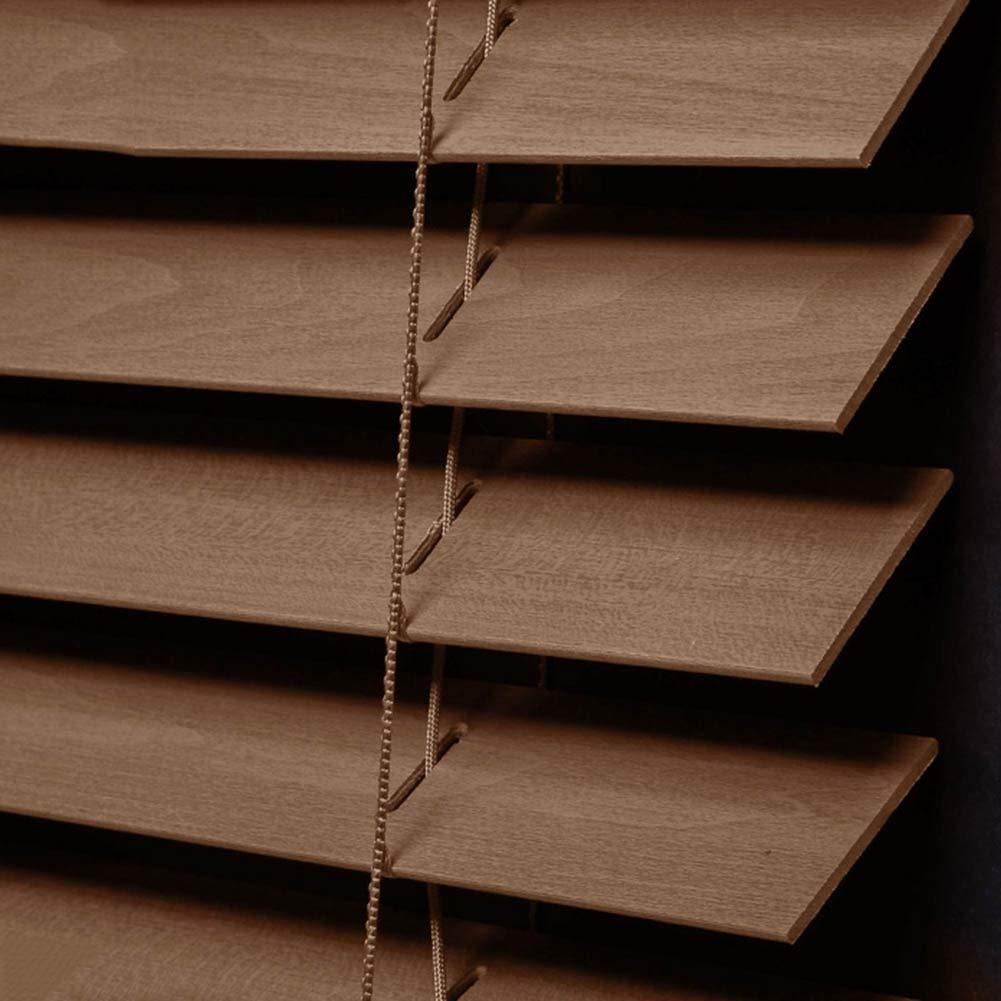 PENGFEI 木製 ウッド ブラインド 無垢材 レトロ 日よけカーテン 水平ローマンシェード、 2色、 サイズカスタマイズ (Color : A, Size : 130x225cm) 130x225cm A B07TCMPC5V