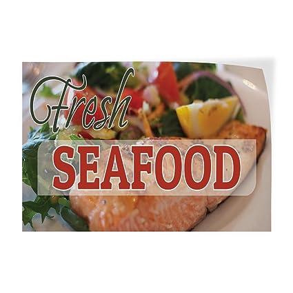 Amazon Com Decal Sticker Multiple Sizes Fresh Seafood 1