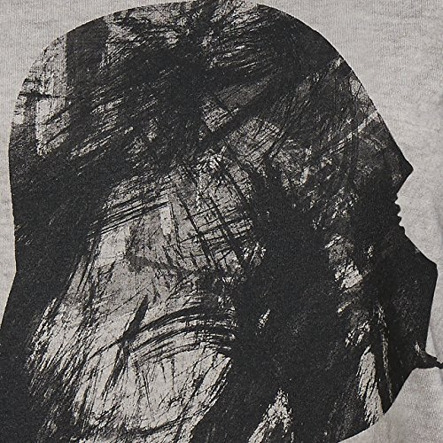 GOZOO Star Wars T-Shirt Damen Vader Profile Oil Dye 100% Baumwolle Grau