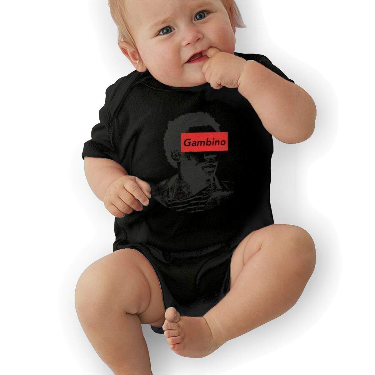 SHWPAKFA Kids Gambino Adorable Soft Music Band Jersey Creeping Suit,Black,6M